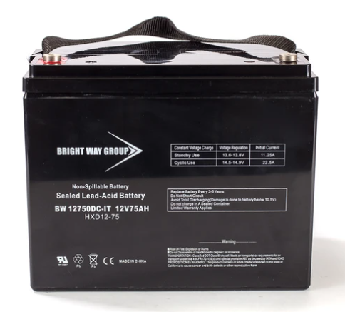 Group 24 - 12V 75AH AGM SLA Battery | Bright Way Group BW12750 | Wheelchair Liberty