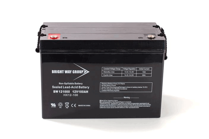 Group 27 12V 100Ah AGM SLA Battery | Bright Way Group BW121000 | Wheelchair Liberty