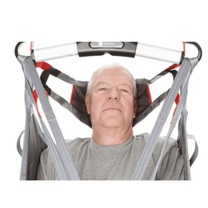 Head Support In Use - HygieneSling Hygiene Slings by Handicare | Wheelchair Liberty