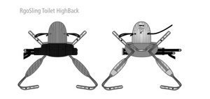 Illustrations Back And Front View - Molift RgoSling Toilet HighBack Padded - Patient Sling for Molift Lifts by ETAC | Wheelchair Liberty