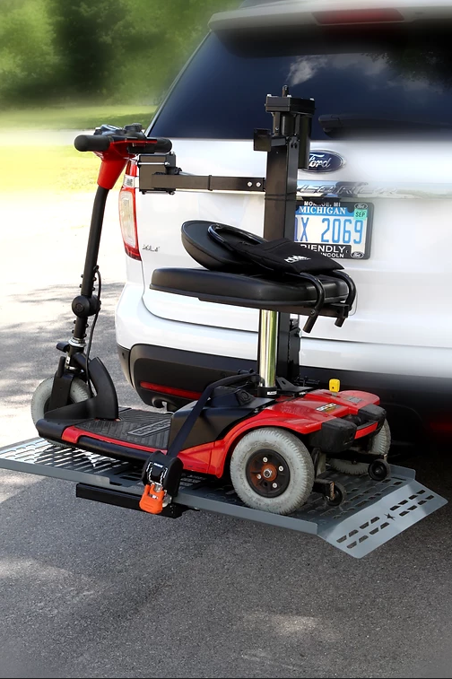 Mini Electric Lift for Scooters and Power Chairs by Wheelchair Carrier | Wheelchair Liberty