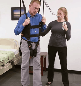 In Use - Rehab Total Support System Walking Sling By Handicare | Wheelchair Liberty
