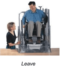 Leave Off Load- The Mobilift CX Portable Powered Electric Platform Wheelchair Lift by Adaptive Engineering | Wheelchair Liberty