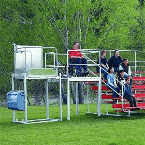 Lift To Bleachers - The Mobilift CX Portable Powered Electric Platform Wheelchair Lift by Adaptive Engineering | Wheelchair Liberty