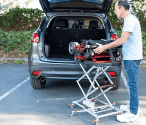 Lift to Car - GoLite™ Portable Lift By Explorer Mobility | Wheelchair Liberty