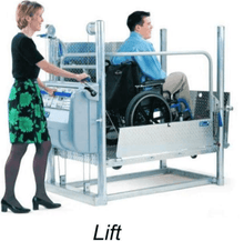 Lifting - The Mobilift CX Portable Powered Electric Platform Wheelchair Lift by Adaptive Engineering | Wheelchair Liberty