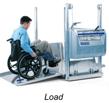 Loading - The Mobilift CX Portable Powered Electric Platform Wheelchair Lift by Adaptive Engineering | Wheelchair Liberty