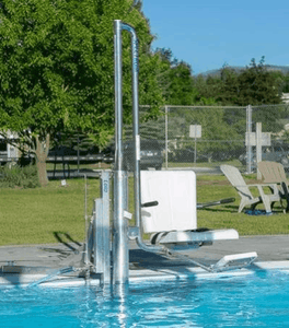 Lolo ADA Compliant Water-Powered Pool Lift WP 400 by Spectrum Aquatics | Wheelchair Liberty