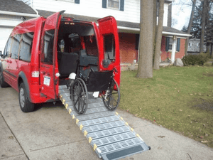 Manual Folding Van Ramp - Used For Wheelchair