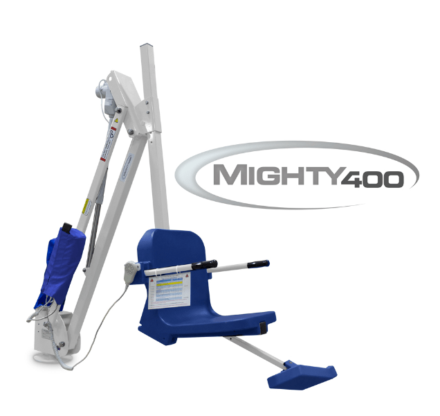 Mighty 400 Powered Pool Lift ADA Compliant by Aqua Creek | Wheelchair Liberty