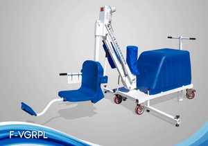 White and Blue - Mighty Voyager Portable Pool Lift by Aqua Creek | Wheelchair Liberty