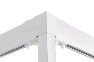 Molift Quattro Rail System for Ceiling Lifts Corner View Outside