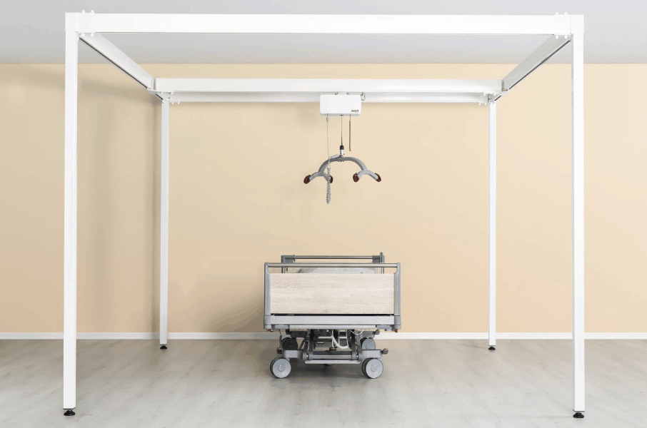 Molift Quattro Rail System for Ceiling Lifts Full System Image