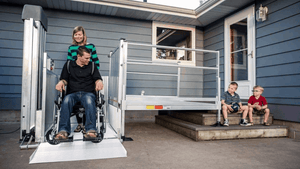 PASSPORT® Vertical Platform Lifts by EZ-ACCESS® Family Use | Wheelchair Liberty