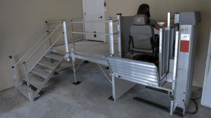 PASSPORT® Vertical Platform Lifts by EZ-ACCESS® - Used For Lift Upper view | Wheelchair Liberty