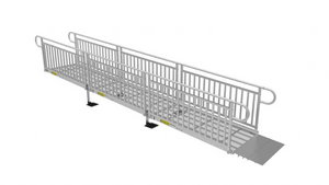 PATHWAY® 3G Modular Access System Wheelchair Ramp - Expanded Metal Picket Fence | Wheelchair Liberty