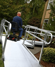 PATHWAY® 3G Modular Access System Wheelchair Ramp - Scooter on | Wheelchair Liberty