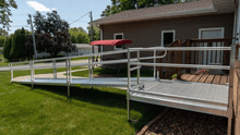 PATHWAY® 3G Modular Access System Wheelchair Ramp - Straight Side View | Wheelchair Liberty
