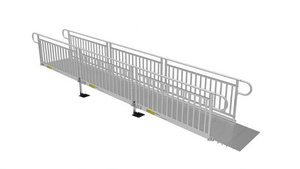 PATHWAY® 3G Modular Access System Wheelchair Ramp - Solid Metal Picket Fence | Wheelchair Liberty