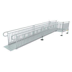 PATHWAY® 3G Modular Access System Wheelchair Ramp - Solid Surface Picket Fence | Wheelchair Liberty