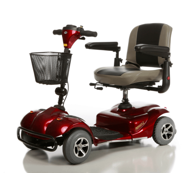 Pioneer 2 S245 4-Wheel Electric Scooter - Left Side View