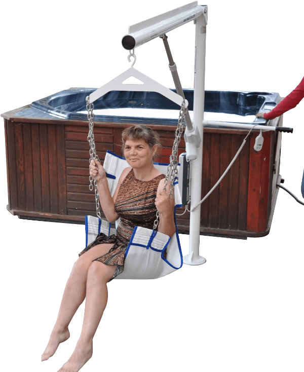 Super Power EZ Above-Ground Pool lift by Aqua Creek | Wheelchair Liberty