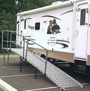 Portable Camper / RV Ramp System RV And Trailer By Roll-A-Ramp | Wheelchair Liberty