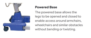 Powered Base - Hoyer Calibre Pro Bariatric Electric Patient Lift by Joerns | Wheelchair Liberty