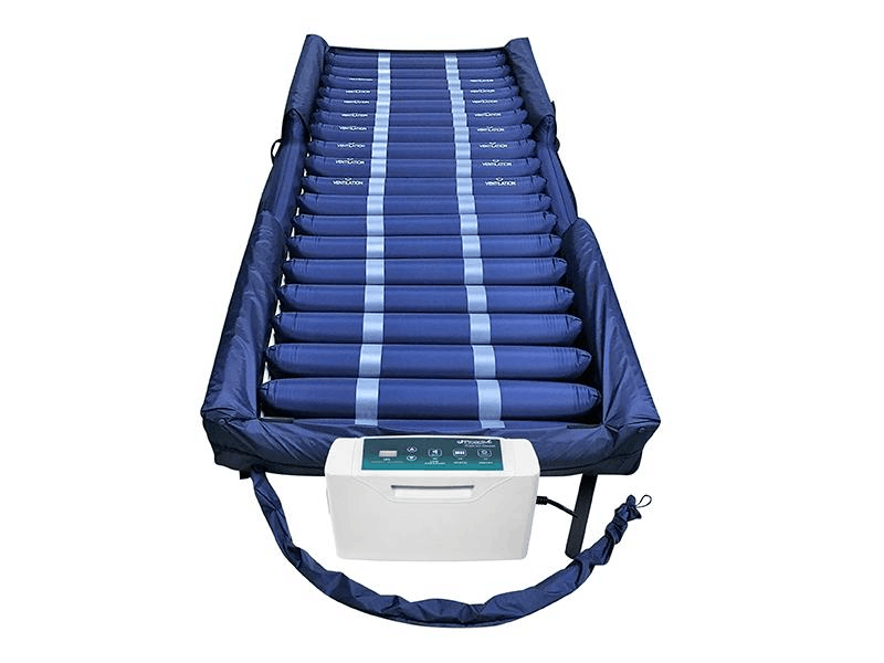 rotekt® Aire 4600DXAB | Low Air Loss/Alternating Pressure Mattress System with Digital Pump | Raised Side Air Bolsters + Cell-On-Cell Support Base