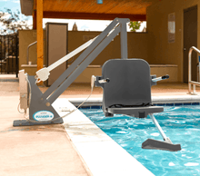 Gray Frame and Seat - Ranger 2 Powered Pool Lift ADA Compliant by Aqua Creek | Wheelchair Liberty