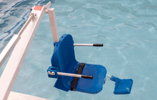 Submerged in the pool - Ranger 2 Powered Pool Lift ADA Compliant by Aqua Creek | Wheelchair Liberty