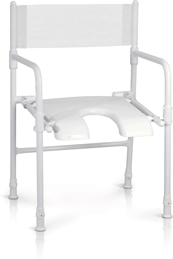 Rufus Folding Shower Chair Full Seat Image