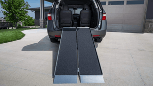 SUITCASE® Singlefold AS Portable Ramps - Car Storage Ramp Front View | Wheelchair Liberty