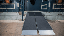 SUITCASE® Singlefold AS Portable Ramps - On Stairs Front View | Wheelchair Liberty