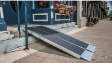 SUITCASE® Singlefold AS Portable Ramps - On Stairs Side View  | Wheelchair Liberty