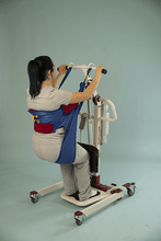 Sani Toileting Slings Woman Using Back Right View