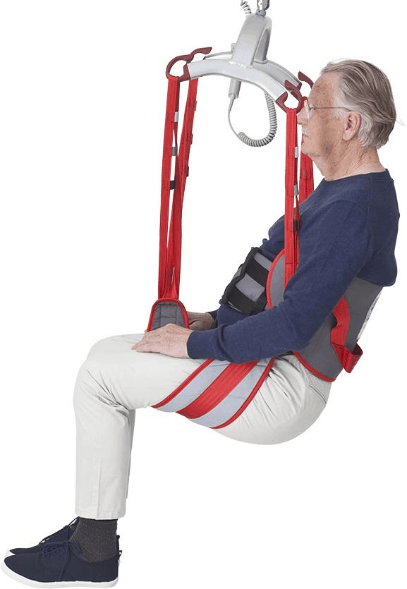 Side View - Molift RgoSling Toilet LowBack Padded - Patient Sling for Molift Lifts by ETAC | Wheelchair LIberty