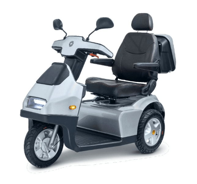 Silver - Afiscooter S3 3-Wheel Electric Scooter By Afikim | Wheelchair Liberty