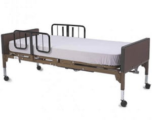 Sleep-Ease 600 Full Electric Bariatric Hospital Bed B320 With Mattres and Half Length Rails