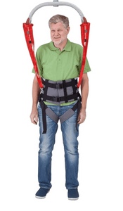 Sling Connected to Ceiling Lift - Molift Rgo Sling Ambulating Vest - Patient Sling for Molift Lifts by ETAC | Wheelchair Liberty