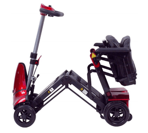 Solax Mobie Plus Electric Folding Scooter - Red Slightly Folded