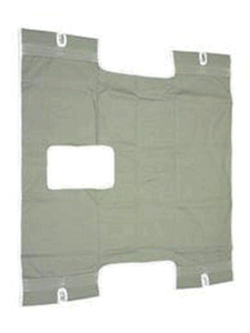 Standard Commode Patient Sling for Protekt Patient Lifts - Canvas