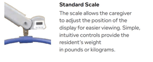 Standard Scale - Hoyer Calibre Pro Bariatric Electric Patient Lift by Joerns | Wheelchair Liberty