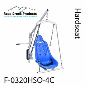 Hard Seat Option - Super Power EZ Above-Ground Pool lift by Aqua Creek | Wheelchair Liberty