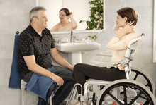 Swift Mobil 24Inch-2 Self-Propelled Shower Commode Chair - Carer Use