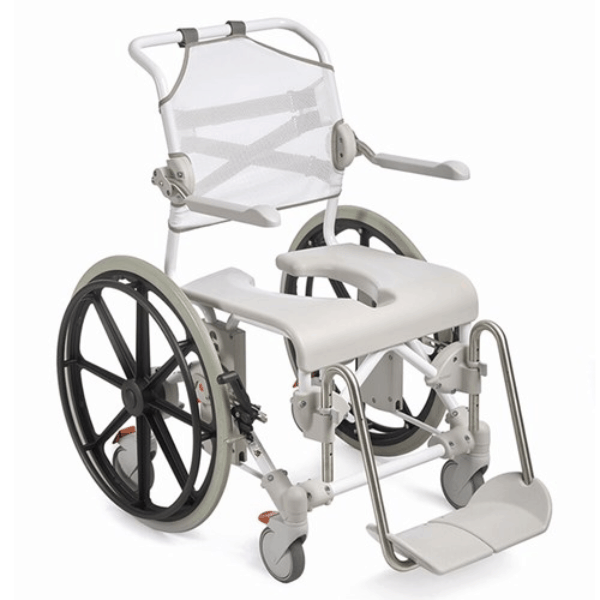 Swift Mobil 24Inch-2 Self-Propelled Shower Commode Chair - Full Chair Image