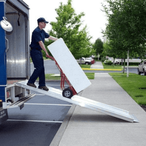 TRAVERSE Portable Walk Ramp On A Shipping Truck