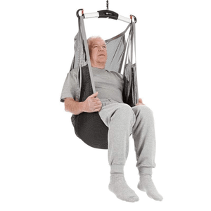 Undivided Legs Polyester Net Front View - Universal Flexible Patient Sling for Handicare Patient Lifts - Wheelchair Liberty