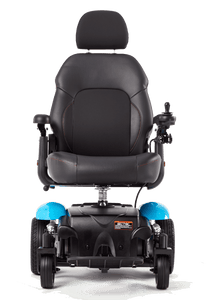 Vision Sport Mid-Wheel-Drive Power Wheelchair P326A - Blue Front View