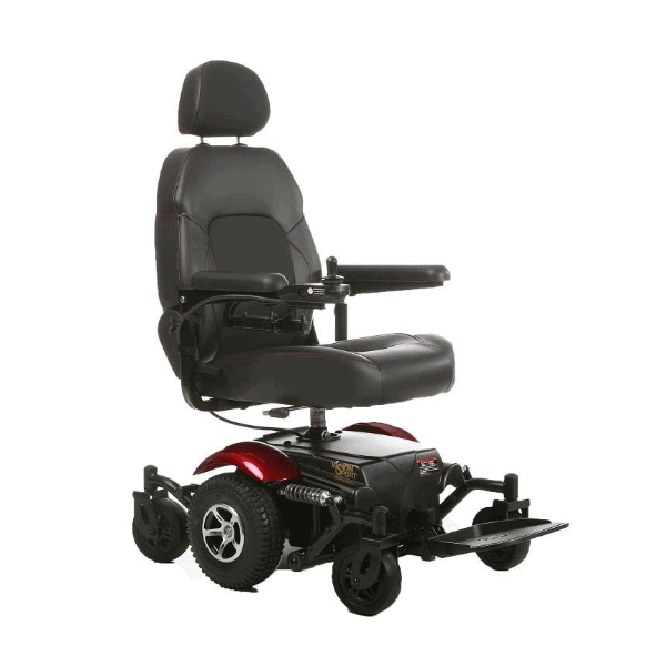 Vision Sport Mid-Wheel-Drive Power Wheelchair P326A - Right Side